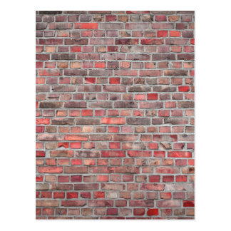 brick wall  background - red vintage stone postcard