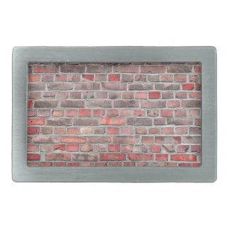 brick wall  background - red vintage stone rectangular belt buckles