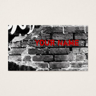 brick wall business card