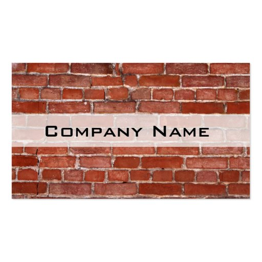 Brick Wall Business Card Template