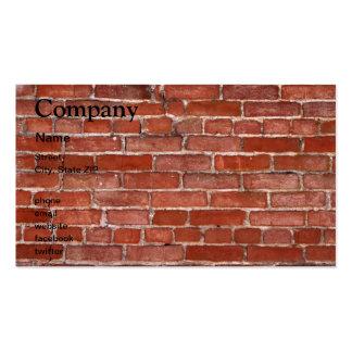 Brick Wall Business Card Templates