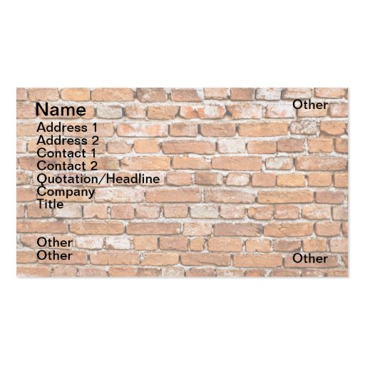 Brick wall business cards