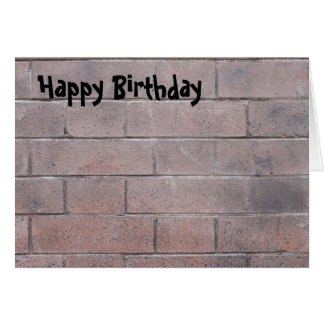 Brick Wall Card