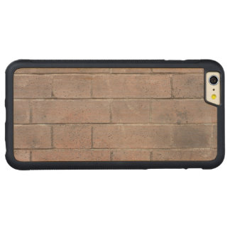 Brick Wall Carved Maple iPhone 6 Plus Bumper Case