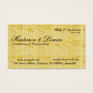 Brick Wall Construction Business Card