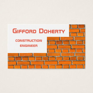 Brick wall construction customizable business card