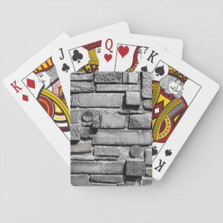 Brick Wall Cool Texture Pattern Playing Cards