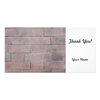 Brick Wall Custom Photo Card
