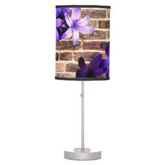 Brick Wall Flowers Table Lamp. Table Lamp