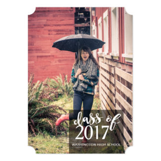 Brick Wall Graduation Announcement