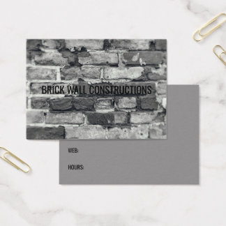 Brick Wall Grey Black & White Bricks Background Business Card