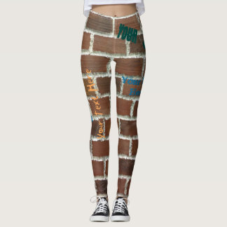 Brick wall Grtaffiti Leggings