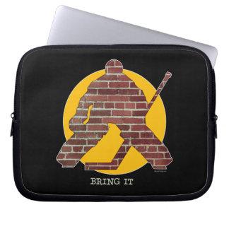 Brick Wall Hockey Goalie Laptop Sleeve