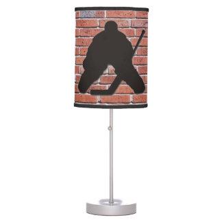 Brick Wall Hockey Goalie Table Lamp