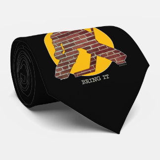 Brick Wall Hockey Goalie Tie