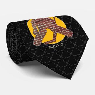 Brick Wall Hockey Goalie Tie