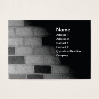 brick wall in black and white business card