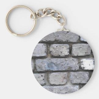 Brick wall keychain