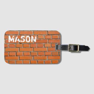 Brick Wall Luggage Tag