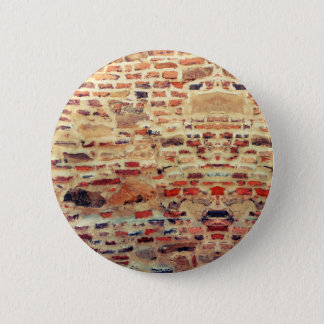 Brick Wall Pattern 2 Inch Round Button