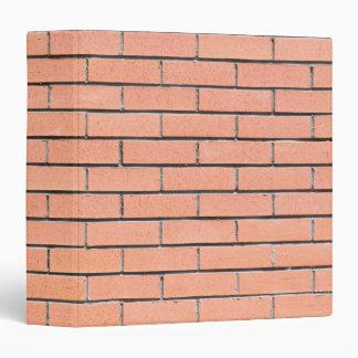 Brick wall pattern 3 ring binder
