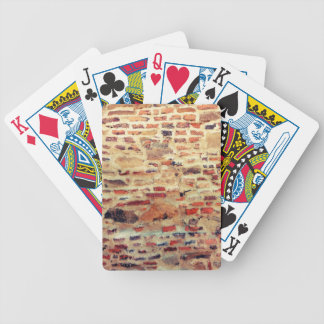 Brick Wall Pattern Bicycle Playing Cards