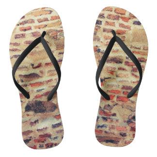 Brick Wall Pattern Flip Flops