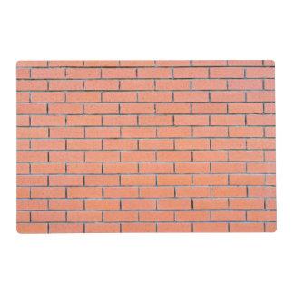 Brick wall pattern laminated placemat
