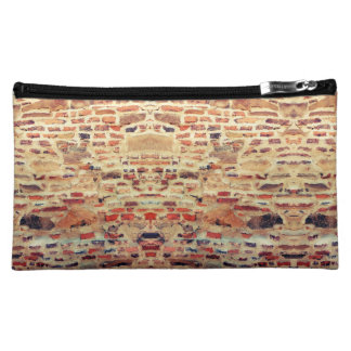 Brick Wall Pattern Makeup Bag