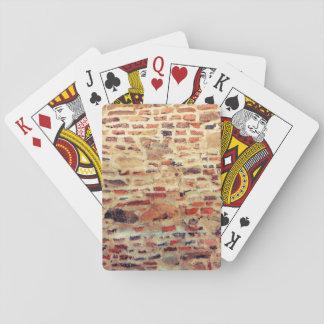 Brick Wall Pattern Playing Cards
