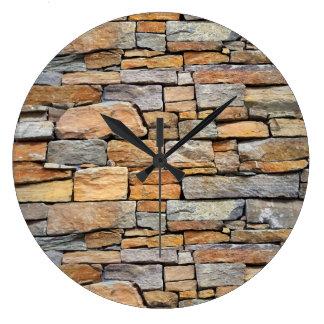 Brick Wall Pattern Wall Clocks