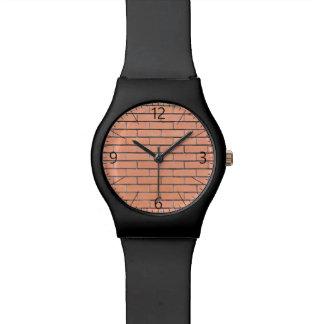 Brick wall pattern wrist watches