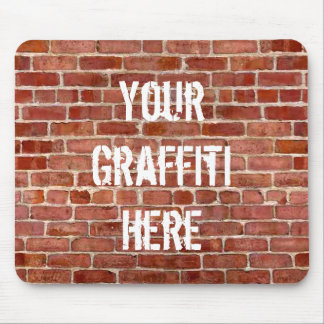 Brick Wall Personalized Graffiti Mouse Pad