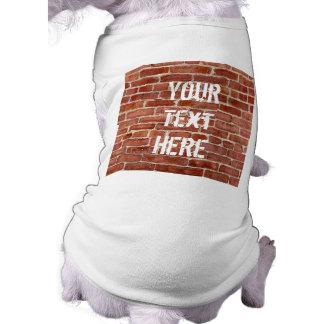 Brick Wall Personalized Graffiti Pet Dog Clothes