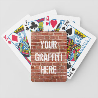 Brick Wall Personalized Graffiti Playing Cards