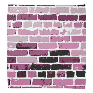Brick Wall - Pink/Maroon/Rose/Black Bandana