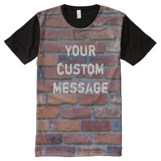 Brick wall - red mixed bricks and mortar All-Over-Print T-Shirt
