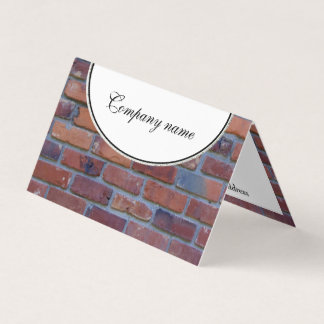 Brick wall - red mixed bricks and mortar business card