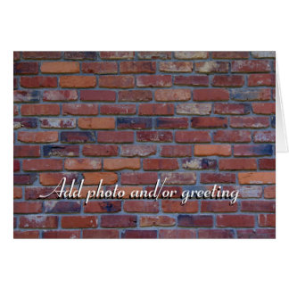 Brick wall - red mixed bricks and mortar card