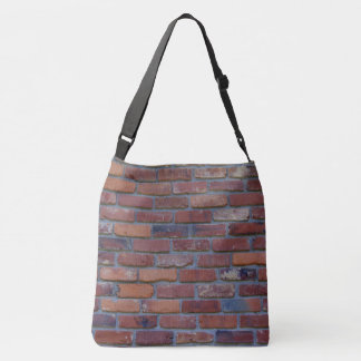 Brick wall - red mixed bricks and mortar crossbody bag