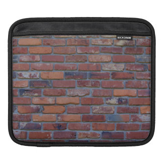 Brick wall - red mixed bricks and mortar iPad sleeve