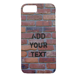 Brick wall - red mixed bricks and mortar iPhone 7 case