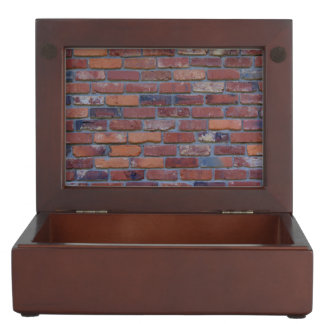 Brick wall - red mixed bricks and mortar keepsake box