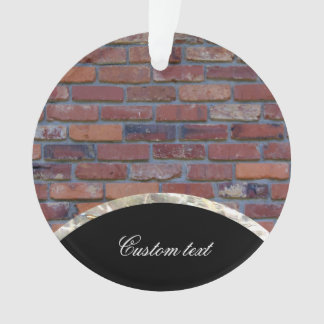 Brick wall - red mixed bricks and mortar ornament