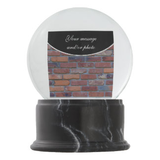 Brick wall - red mixed bricks and mortar snow globe