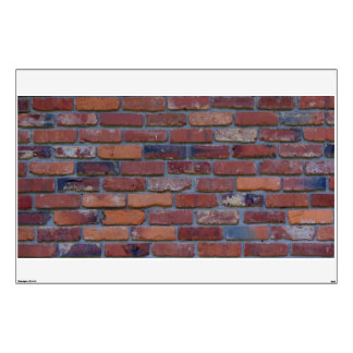 Brick wall - red mixed bricks and mortar wall sticker
