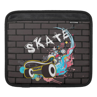Brick Wall Skate Graffiti Logo With Board Sleeves For iPads