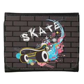 Brick Wall Skate Graffiti Logo With Board Wallet