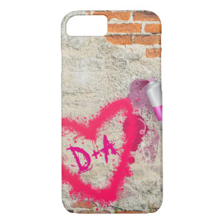Brick Wall Spray Paint Graffiti Initials Case