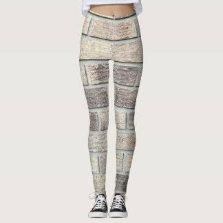 Brick Wall Texture Image Leggings